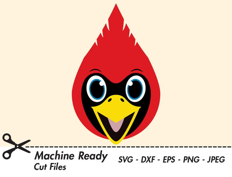 Cute svg cut files. Cardinal clipart file