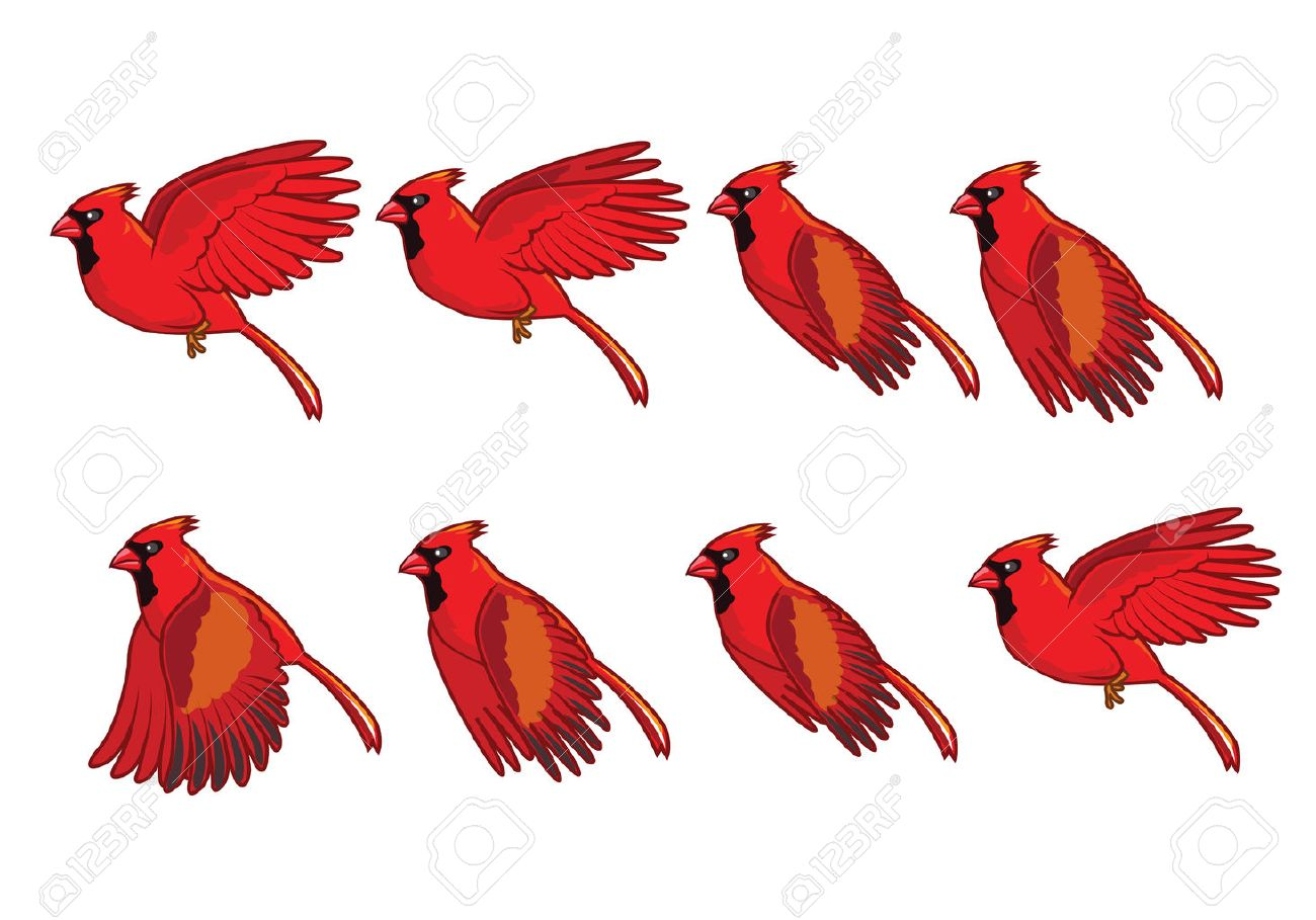 Portal . Cardinal clipart flying
