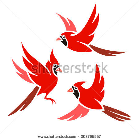 collection of high. Cardinal clipart flying