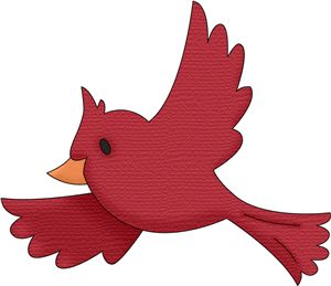 collection of red. Cardinal clipart in flight