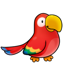 Parrot fluff favourites animal. Cardinal clipart kawaii