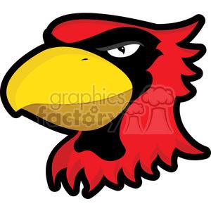 Royalty free vector clip. Cardinal clipart mascot
