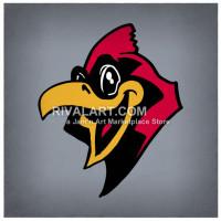 Cardinal clipart mascot. On rivalart com happy