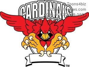 Cardinal clipart mascot. Cartoon sports