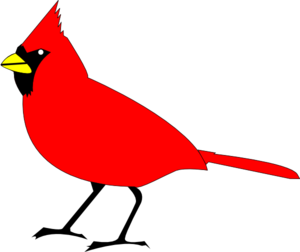 Bird clip art at. Cardinal clipart outline
