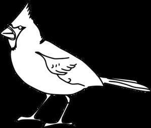 Cardinal clipart outline. Clip art at clker