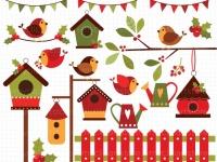 Cardinal clipart red robin. Christmas meylah