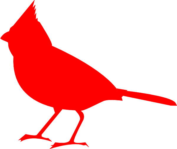 Cardinal clipart red robin. Silhouette clip art at
