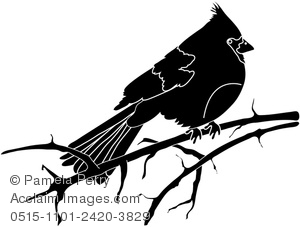Clip art illustration of. Cardinal clipart silhouette