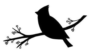 On branch http bp. Cardinal clipart silhouette