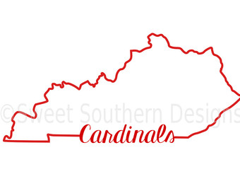 Etsy kentucky outline cardinals. Cardinal clipart silhouette