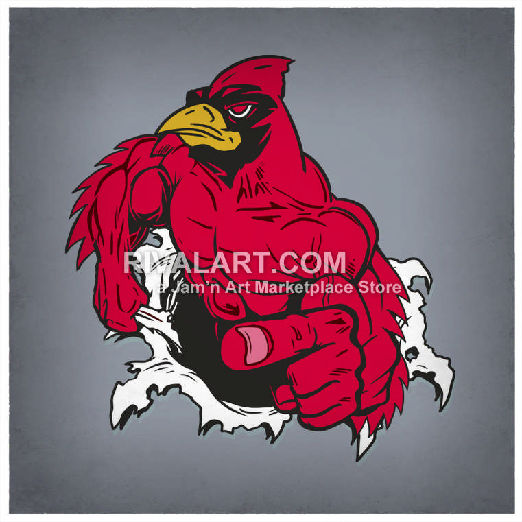 Muscular tearing thru a. Cardinal clipart softball