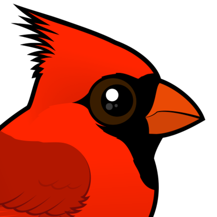 Cute northern by birdorable. Cardinal clipart south