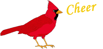 Cardinal clipart tiny bird. On red wings to