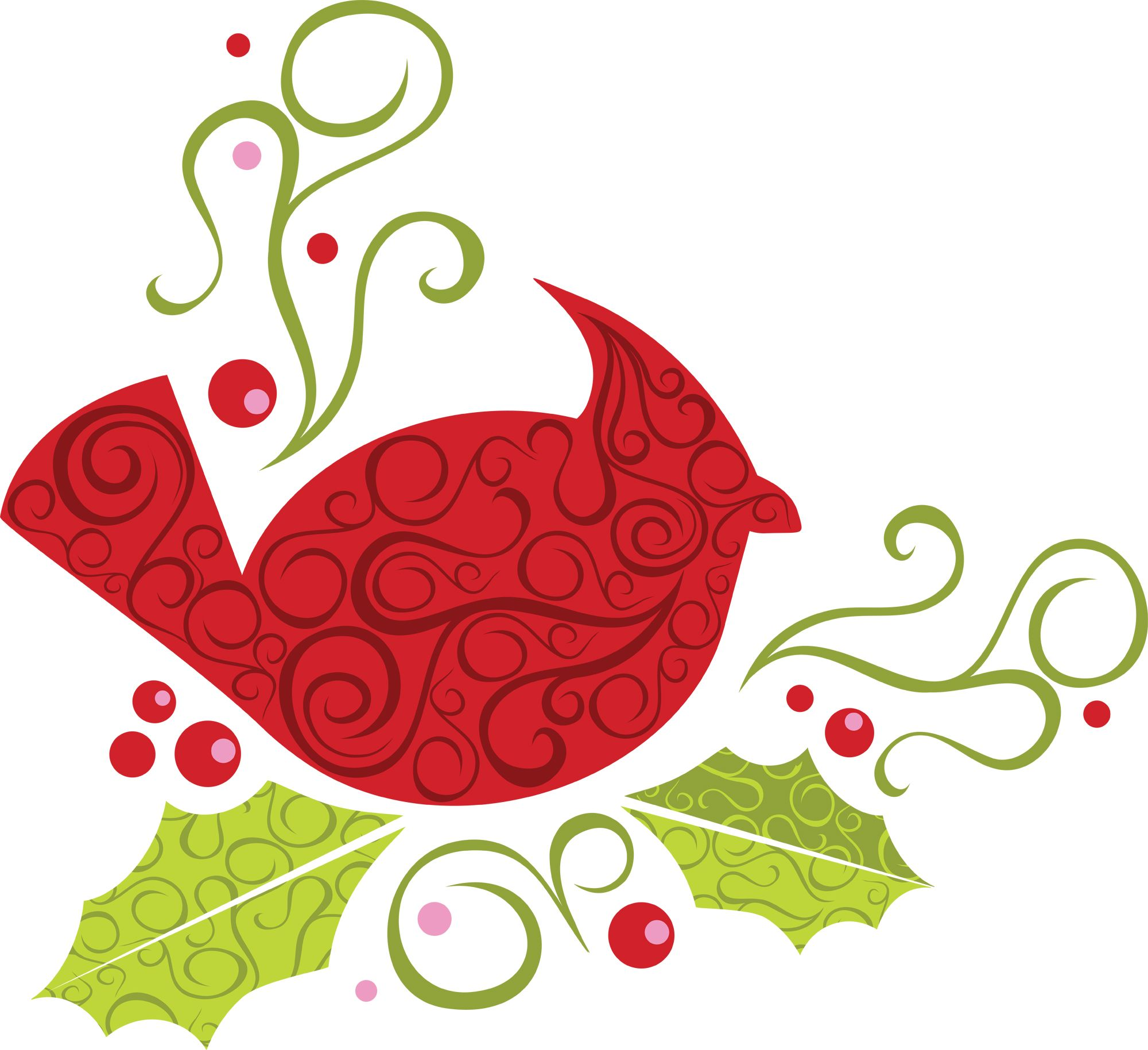 Cardinal clipart tree clipart. Christmas bird clip art