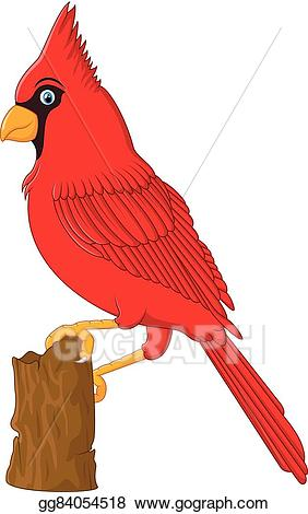 Vector art red sitting. Cardinal clipart tree clipart