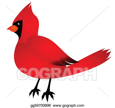 Cardinal clipart vector. Art drawing gg gograph