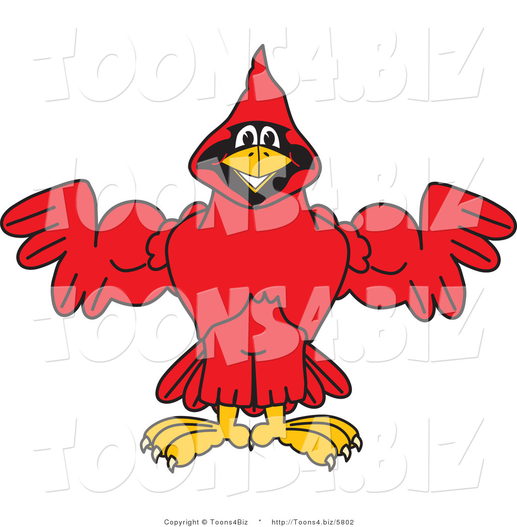 Illustration of a cartoon. Cardinal clipart vector