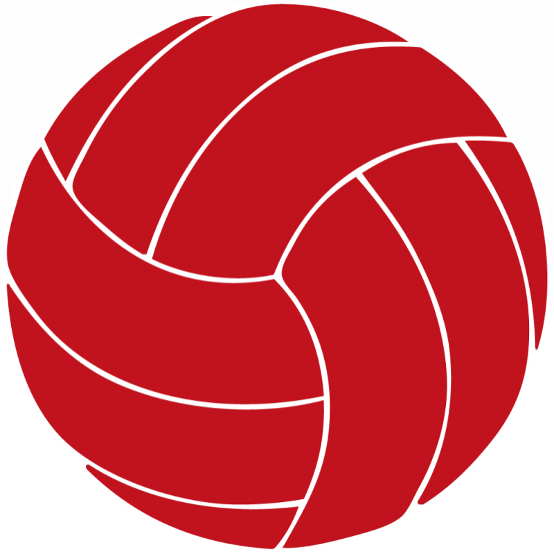 Red Volleyball Clipart