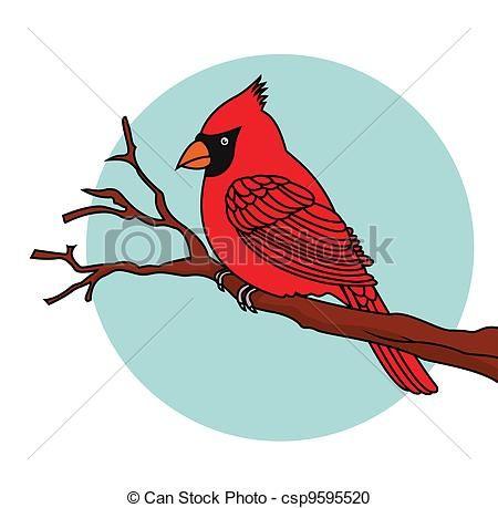 Cardinal clipart volleyball. Vector of red bird