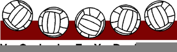Free images at clker. Cardinal clipart volleyball