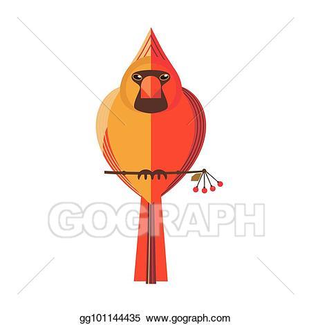 Clip art vector unusual. Cardinal clipart woodland bird