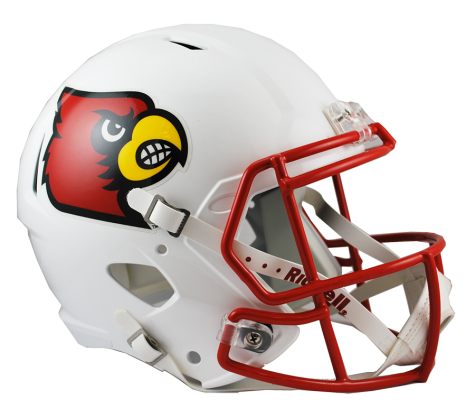 Louisville replica speed football. Cardinals helmet png