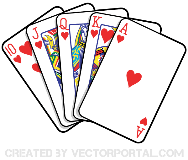 Card clipart playing. Cards vector art cliip