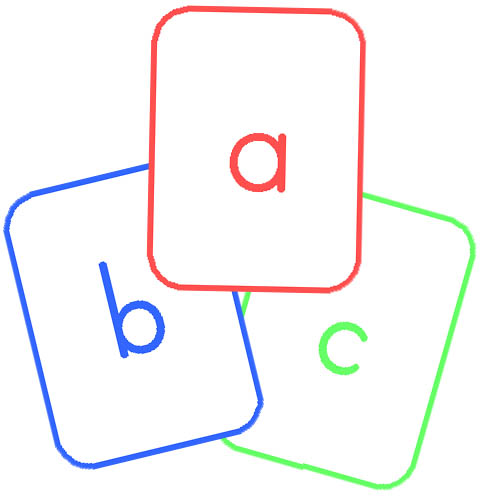 Abc clipart uppercase letter. Flashcard pencil and in
