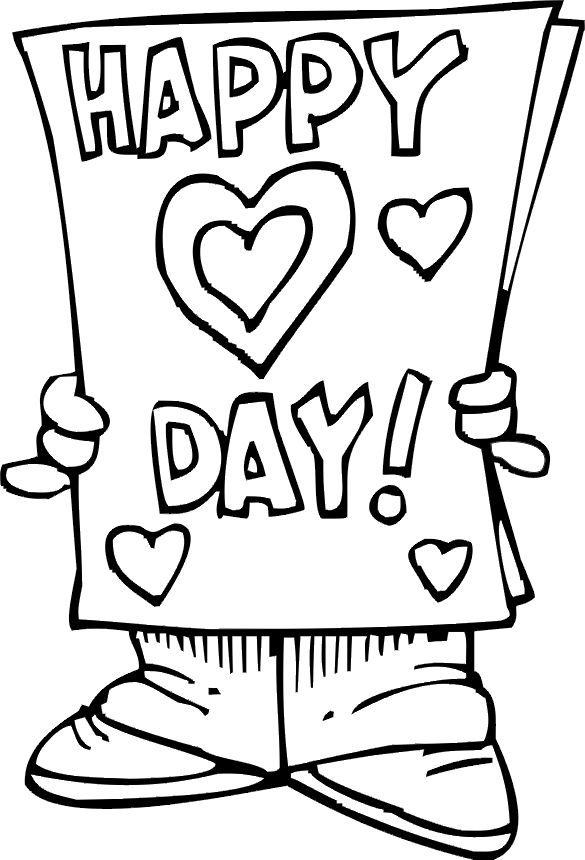 Cards clipart black and white. Valentine card