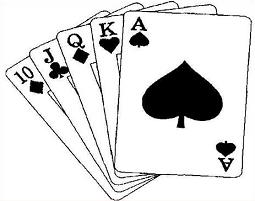 collection of deck. Cards clipart black and white