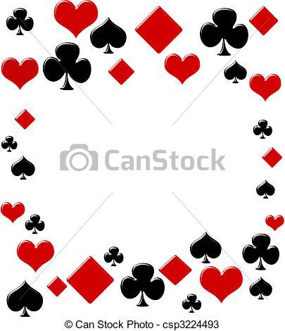 Clip art borders casino. Cards clipart boarder