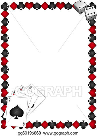 Stock illustration playing with. Cards clipart boarder