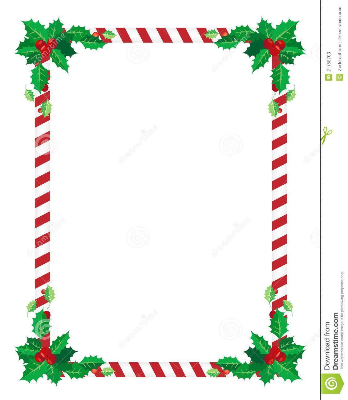 Christmas card borders . Cards clipart border