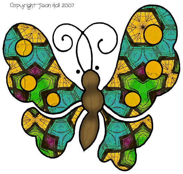 Artbyjean paper crafts set. Cards clipart butterfly