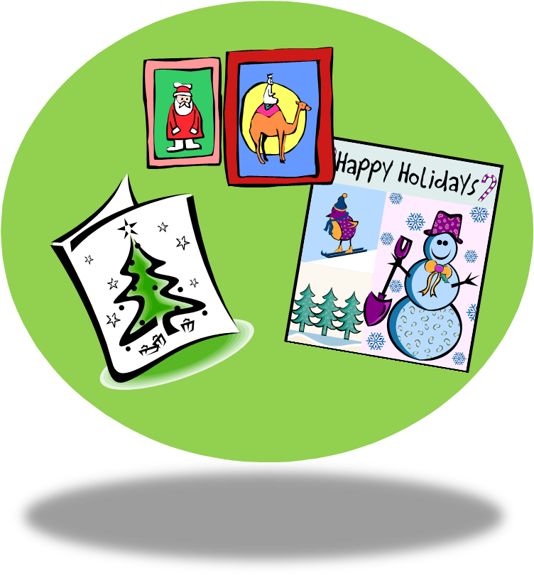 Free christmas card download. Writer clipart writ