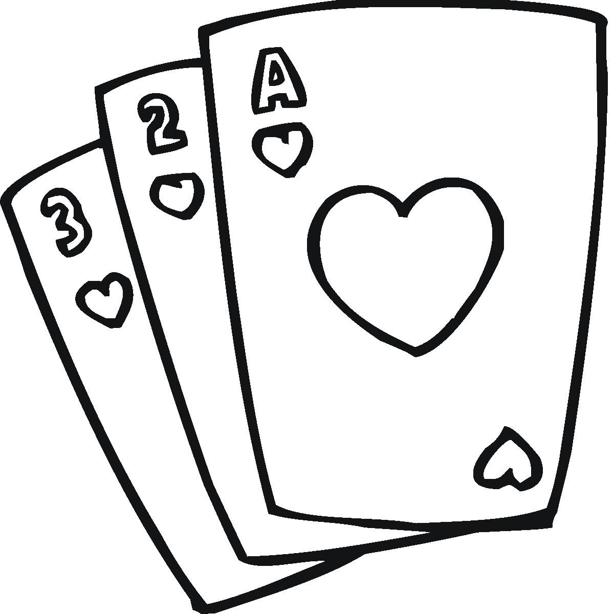 Cards clipart clip art. Images for kids playing