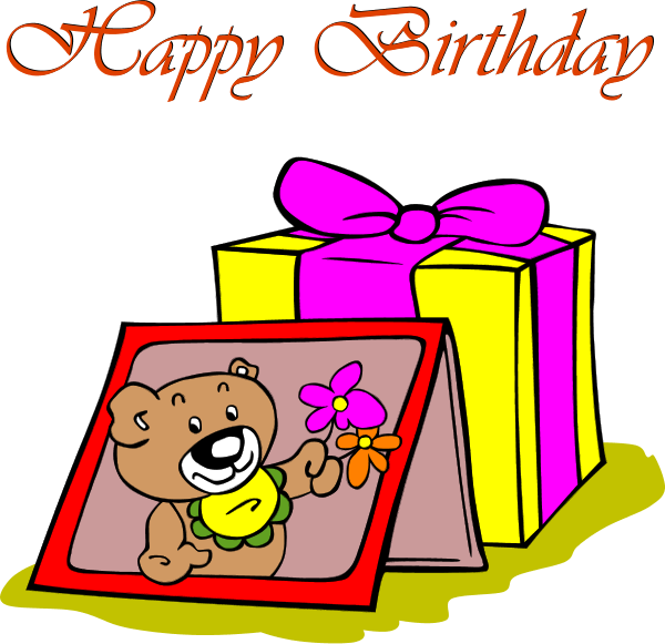 Free birthday card cliparts. Cards clipart clip art