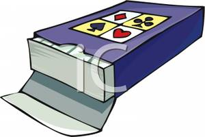 Picture a of playing. Cards clipart deck