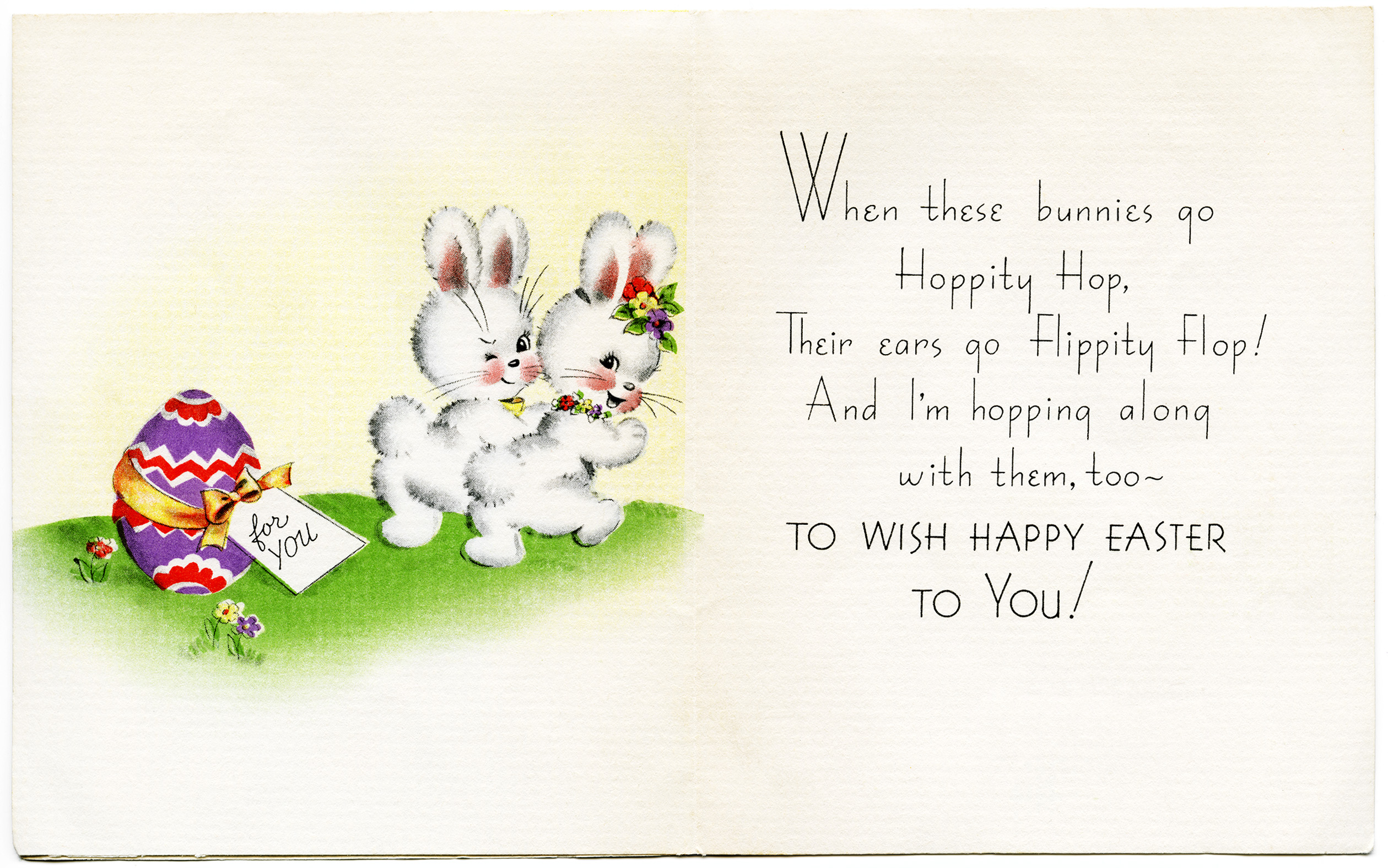 Free vintage image bunnies. Cards clipart easter