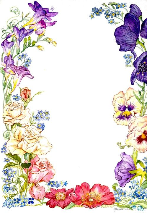 Flower borders best like. Flowers clipart card