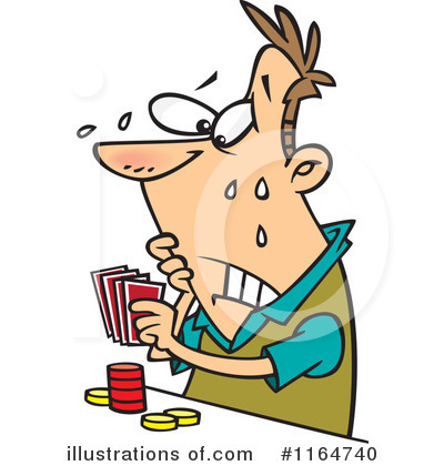 Cards clipart gamble. Gambling illustration by toonaday