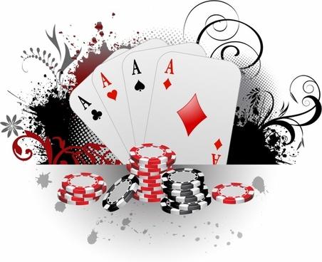 Gambling free vector download. Cards clipart gamble