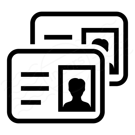 Cards clipart identification card. Iconexperience i collection id