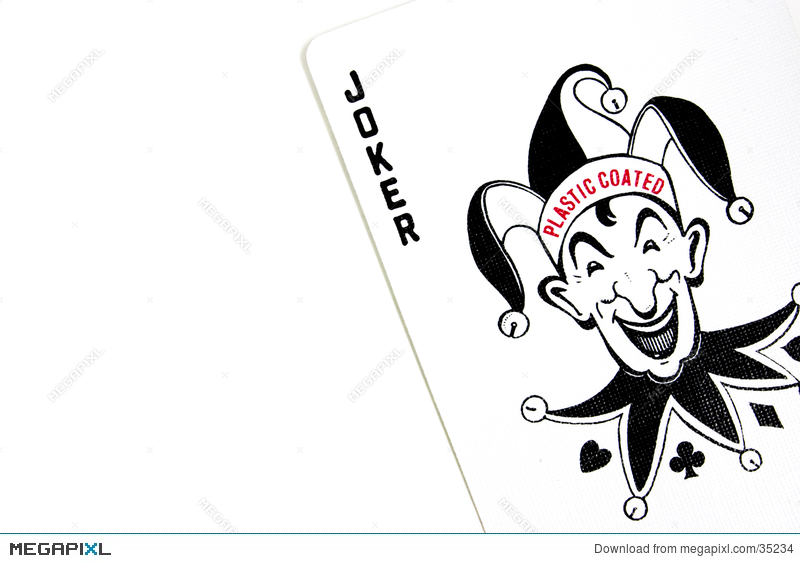 The playing poker stock. Cards clipart joker