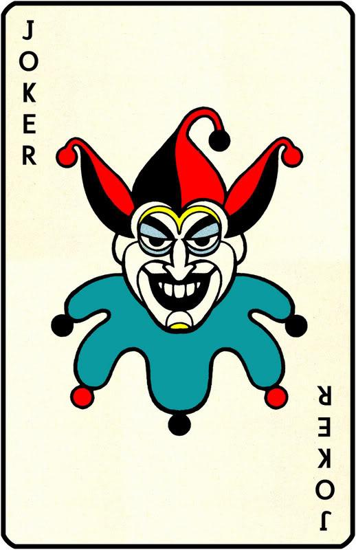 Bb b a cc. Cards clipart joker