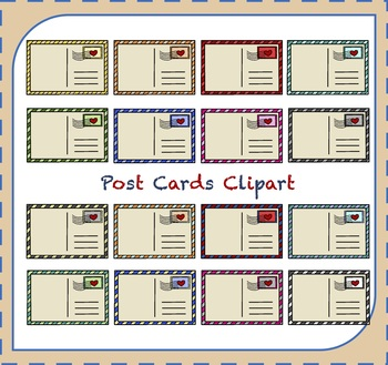 Postcards mail travel by. Postcard clipart post card