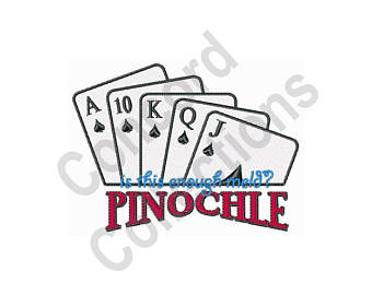 Etsy machine embroidery design. Cards clipart pinochle