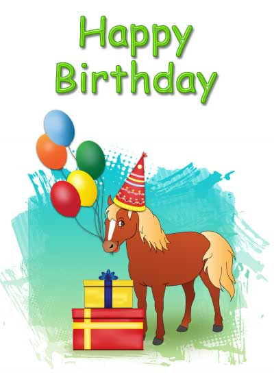 Free birthday for kids. Cards clipart printable