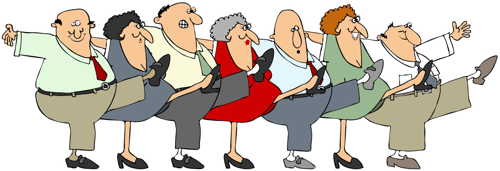 Free seniors cliparts download. Exercising clipart group exercise
